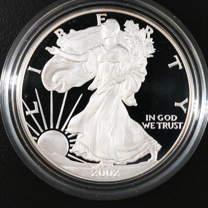 2002-W Proof American Silver Eagle Bullion Coin