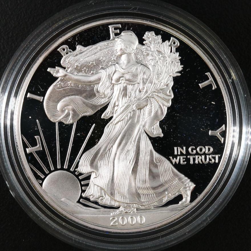 2000-P Proof American Silver Eagle Bullion Coin