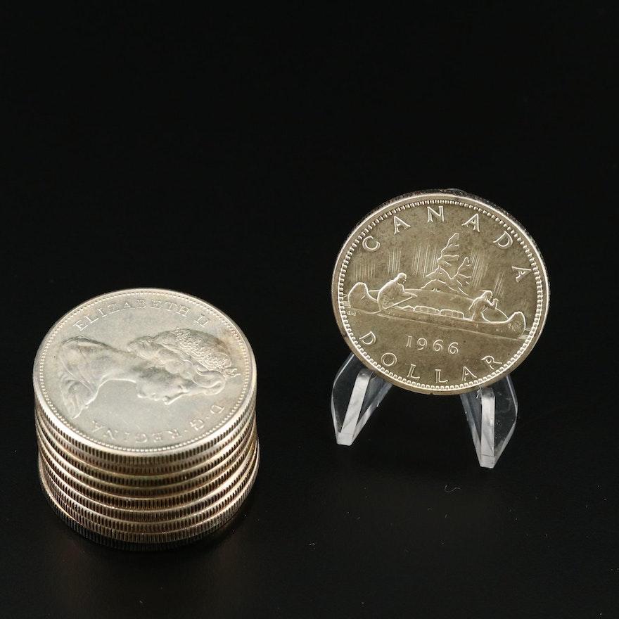 Ten Canadian Silver Dollars