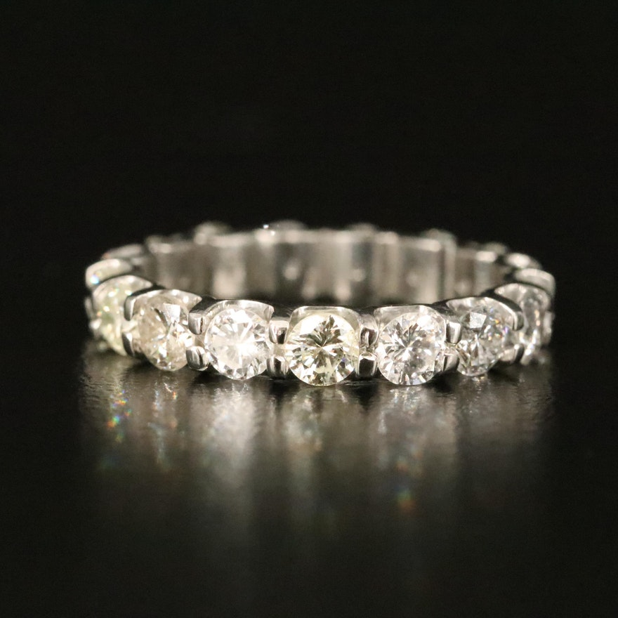 Platinum 2.67 CTW Diamond Eternity Band