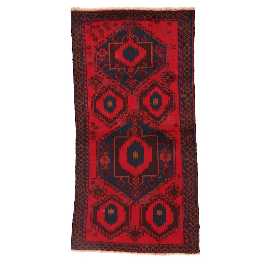 3'5 x 6'8 Hand-Knotted Afghan Baluch Area Rug