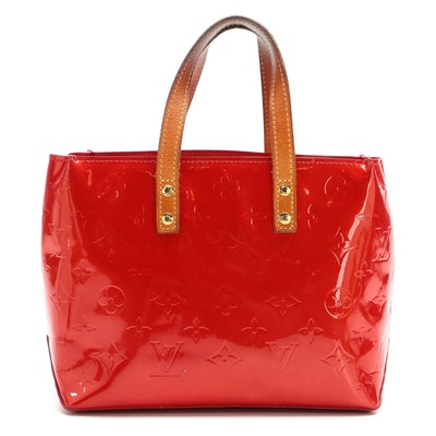 Louis Vuitton Reade PM Tote in Red Monogram Vernis and Vachetta Leather