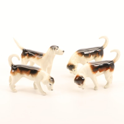Porcelain Figurines of Beagles, Mid to Late 20th Century