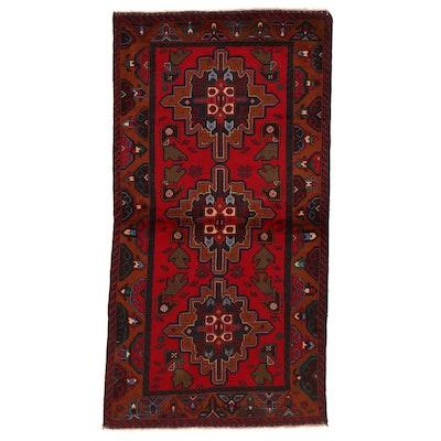 3'7 x 6'9 Hand-Knotted Pakistani Kazak Area Rug