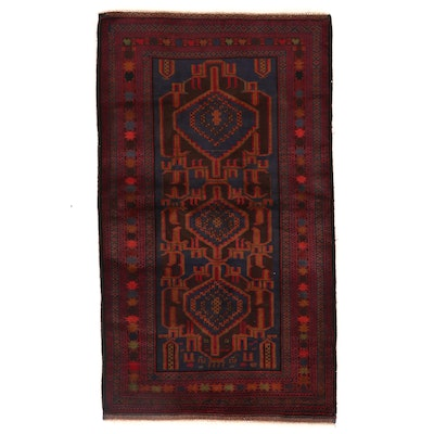 3'7 x 6'5 Hand-Knotted Afghan Baluch Area Rug