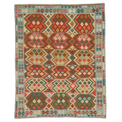 5'3 x 6'7 Handwoven Afghan Kilim Area Rug