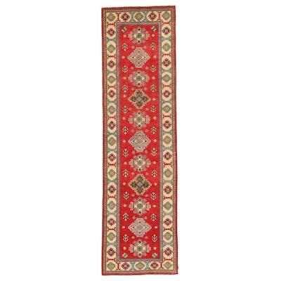 2'9 x 9'8 Hand-Knotted Afghan Kazak Carpet Runner