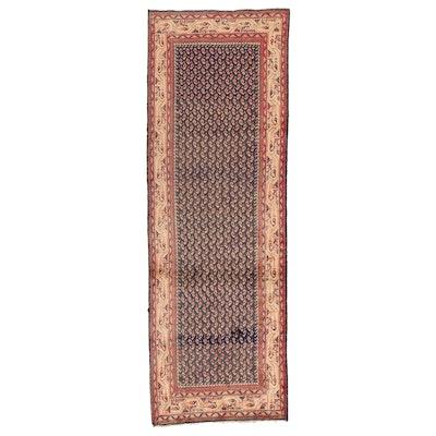 3'5 x 10'2 Hand-Knotted Persian Mir Serabend Carpet Runner