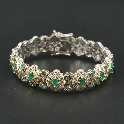 Sterling Emerald Bracelet