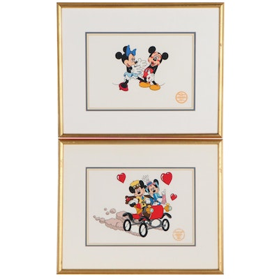Walt Disney Sericels of Mickey and Minnie, Late 20th Century