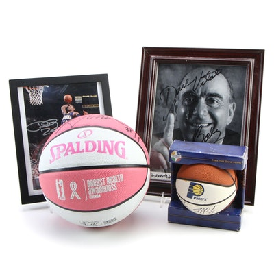 Dick Vitale and Paul George Signed Pictures and More