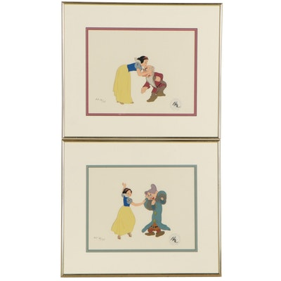 Walt Disney Hand-Inked Animation Cel from Snow White and the Seven Dwarfs, 1937