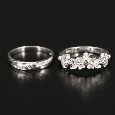Sterling Diamond and Topaz Rings