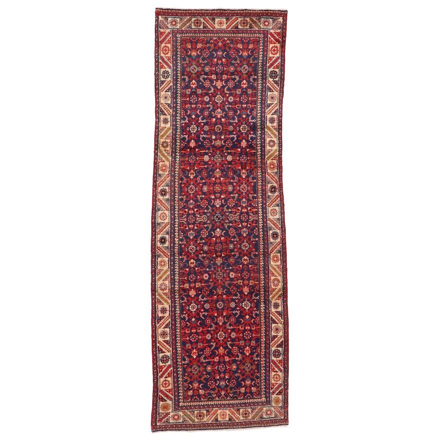3'3 x 10'4 Hand-Knotted Persian Hamadan Herati Long Rug