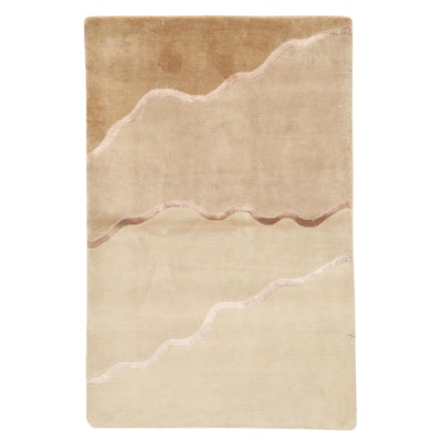3'10 x 5'11 Hand-Knotted Tibetan Modern Style Area Rug