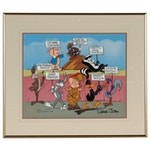 Warner Bros. Hand-Painted Animation Cel of Bugs Bunny and Friends