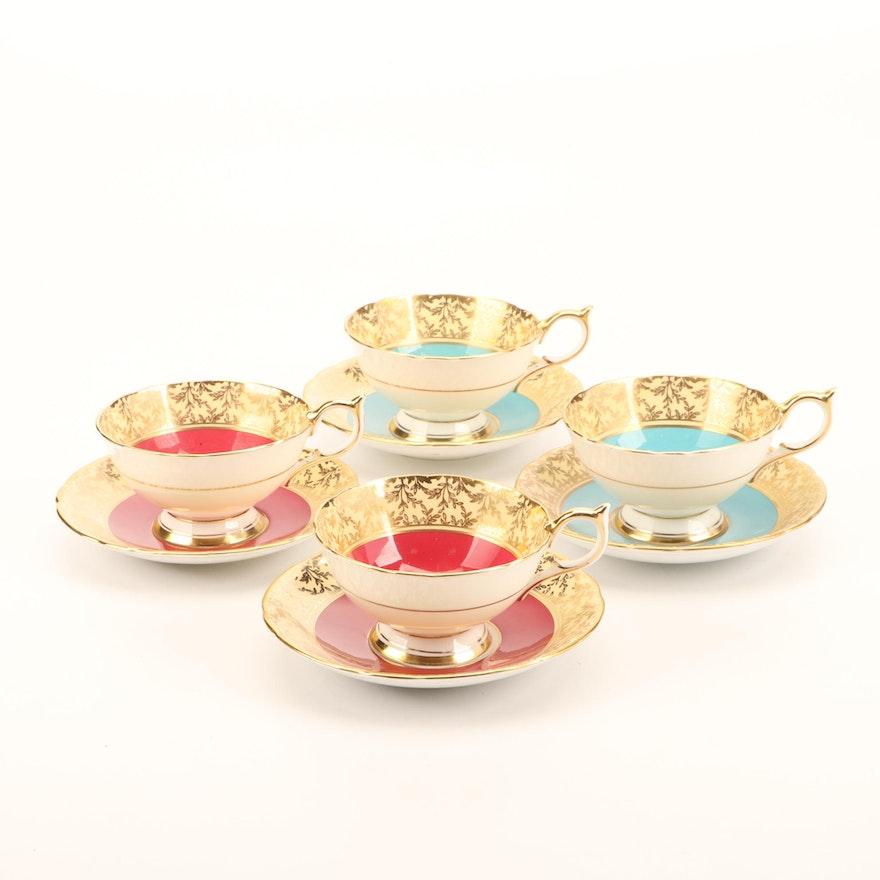 Aynsley Bone China Tea Cup and Saucer Set