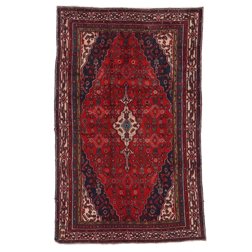 5'9 x 9'2 Hand-Knotted Persian Gogarjin Area Rug