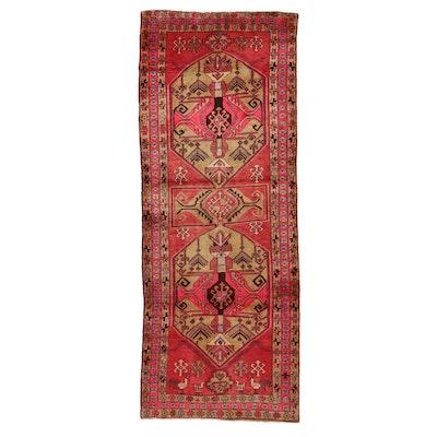 3'9 x 9'7 Hand-Knotted Persian Kazak Long Rug