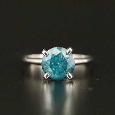 14K 3.00 CT Diamond Solitaire Ring
