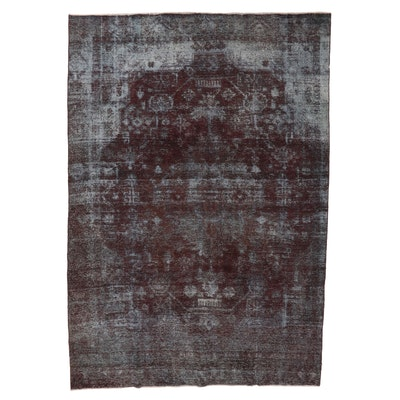 8'4 x 12'4 Hand-Knotted Persian Overdyed Room Sized Rug