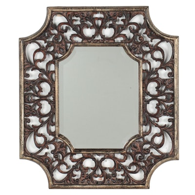 Uttermost Wall Mirror with Pierced Arabesque Design, Contemporary