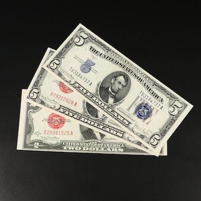 Three High-Grade U.S. Currency Banknotes