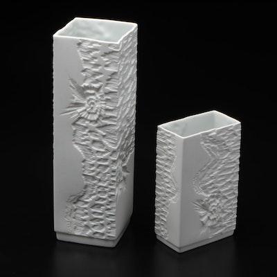 Kaiser White Bisque Vases