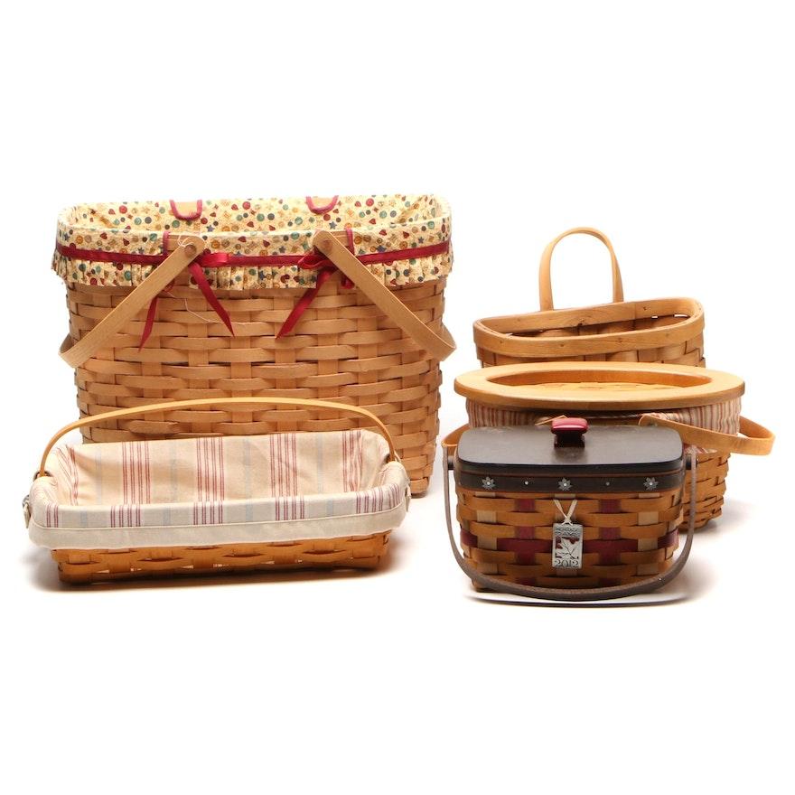 Longaberger and Eagle Handmade Wooden Baskets