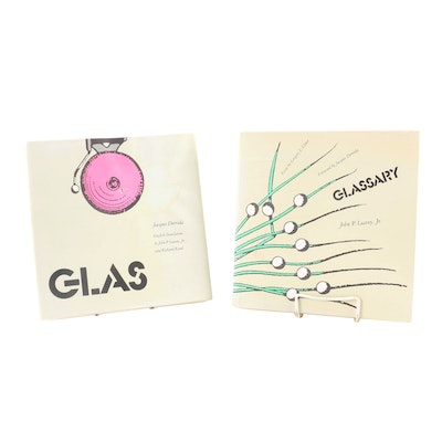 """""""Glas"""" by Jacques Derrida and """"Glassary"""" by John P. Leavey, Jr., 1986"""