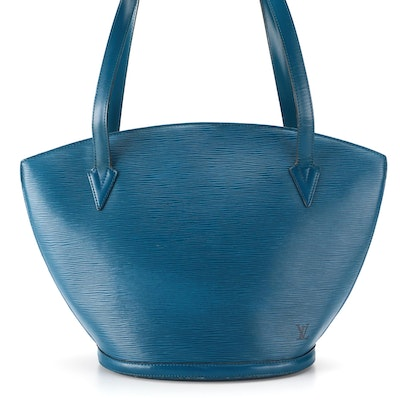 Louis Vuitton Saint Jacques GM Bag in Toledo Blue Epi and Smooth Leather