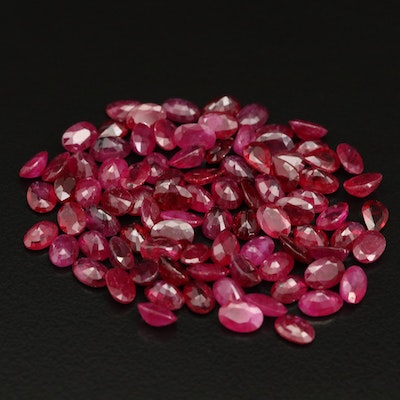 Loose 52.00 CTW Faceted Ruby Selection