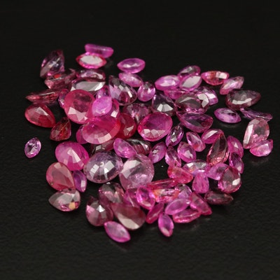 Loose 281.4 CTW Faceted Ruby Selection