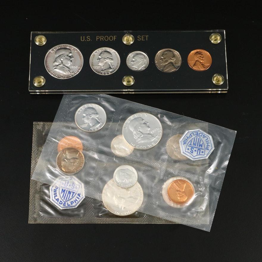 1958, 1959, and 1960 U.S. Mint Proof Sets