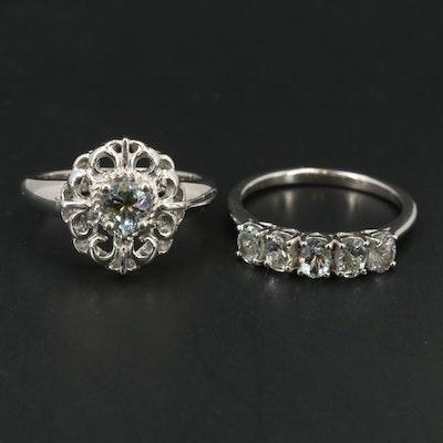 Sterling Aquamarine Rings