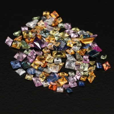Loose Multicolored  Mixed Faceted Sapphires