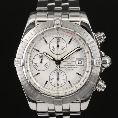 Breitling Chronomat Evolution Stainless Steel Automatic Wristwatch