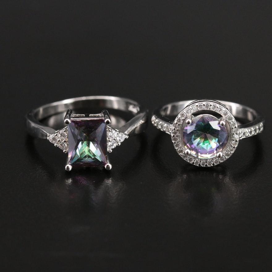 Sterling Cubic Zirconia Rings