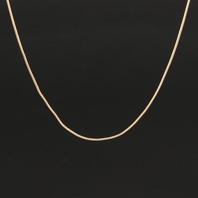 10K Snake Chain Necklace