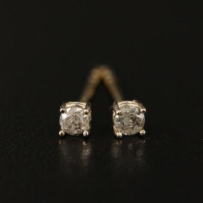 14K 0.12 CTW Diamond Solitaire Earrings