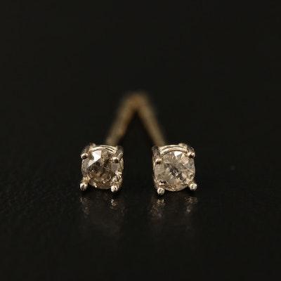 14K 0.13 CTW Diamond Solitaire Earrings