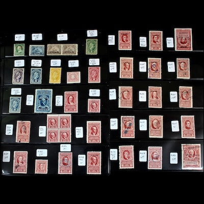 U.S Revenue Stamp Collection Including $1,000 R510 Documentary Stamp