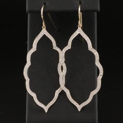 10K Diamond Arabesque Earrings