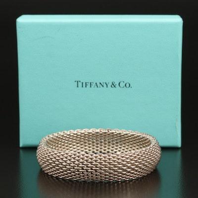 "Tiffany & Co. ""Somerset"" Sterling Mesh Bracelet"