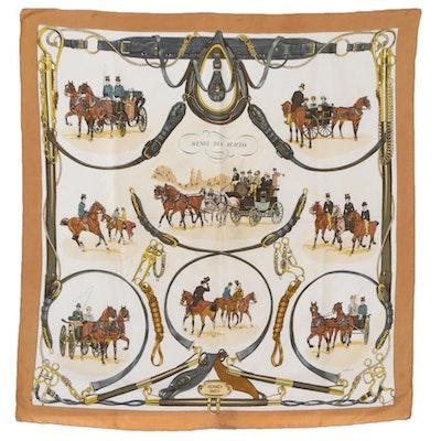 """Hermès """"Avenue des Acacias"""" Silk Twill Scarf with Box"""