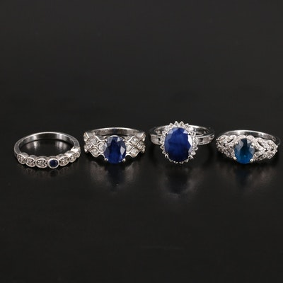 Sterling Silver Apatite, Zircon and Sapphire Ring Selection
