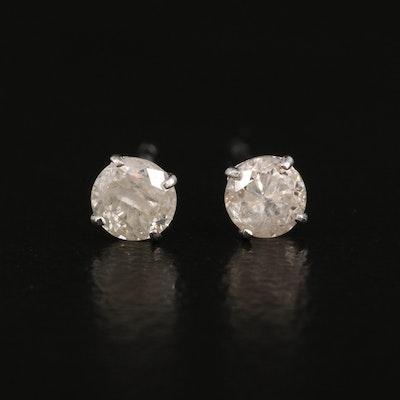 10K Diamond Stud Earrings