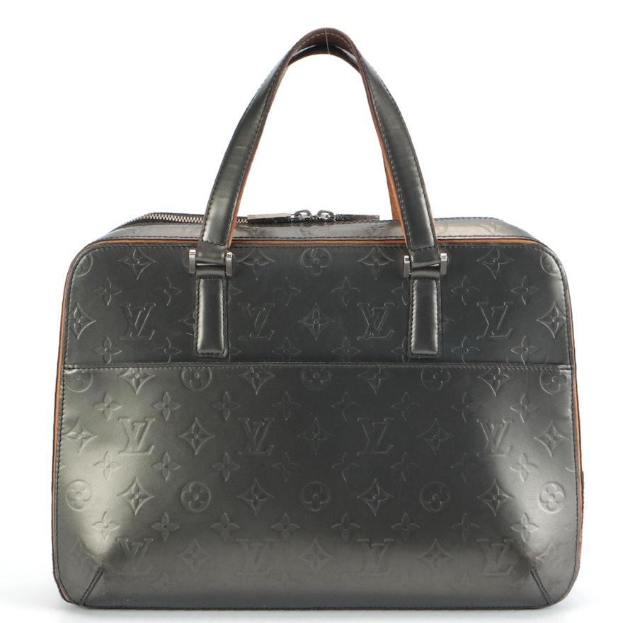Louis Vuitton Malden Bag in Grey Monogram Mat Leather