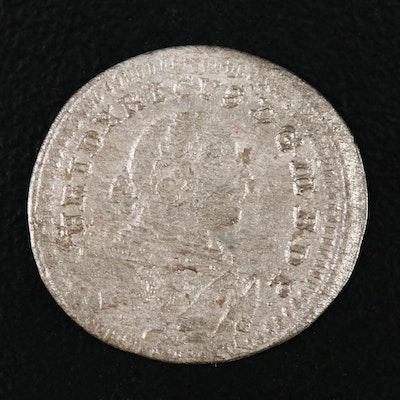 1753 Brandenburg, Bayreuth Silver Kreuzer Coin
