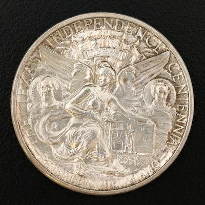 1934 Texas Centennial Commemorative Silver Half Dollar